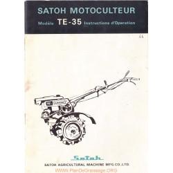 Satoh Te35 Manuel Utilisateur
