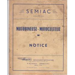 Semiac Motobineuse Motoculteur 3 Et 5 Cv Manuel Utilisateur