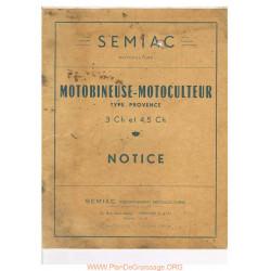 Semiac Type Provence 3 Et 4 5 Cv Manuel Utilisateur