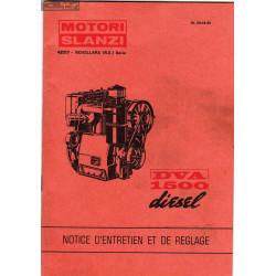 Slanzi Dva 1500 Diesel Manuel Entretien