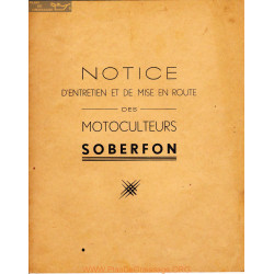 Soberfon Maraicher 311 813 105 125 Manuel Entretien