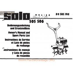 Solo 505 506 Manuel Entretien