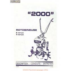 Staub 2000 Description Conduite Manuel Entretien