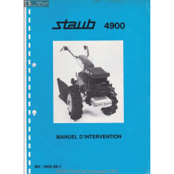 Staub 4900 Intervention Manuel Entretien