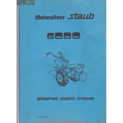 Staub 6000 Notice Manuel Entretien