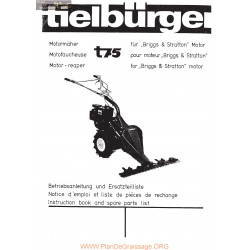 Tielburger T75 Piece Rechange