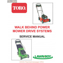 Toro Lawn Boy Walk Behind Power Mower Drive Systems