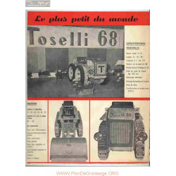 Toselli 68 Fiche Information