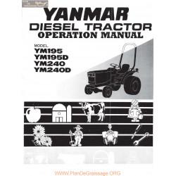 Yanmar 195 240 Manuel Utilisateur