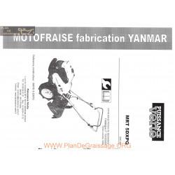 Yanmar Mrt 5 Dx Manuel Utilisateur