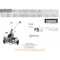 Yanmar Te 500 Fiche Information
