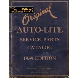 General Autolite Parts Manual 1939