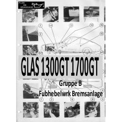 Glas 1300gt 1700gt 7 Gruppe B Fubhebelwrk Bremsanlage