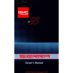 Gmc 1995 Sierra 1500 User Manual