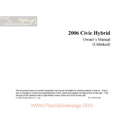 Honda 2006 Civichybrid User Manual