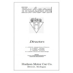 Hudson 1910 Model 20 Roadster Touring Brochure