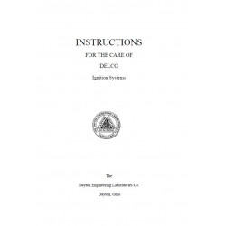 Hudson 1912 14 General Instructions Delco Ignition