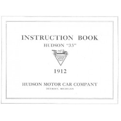 Hudson 1912 Instruction Book