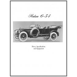 Hudson 1914 15 Six 54 Info Book