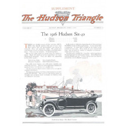 Hudson 1915 June Triangle 1916 Six 40