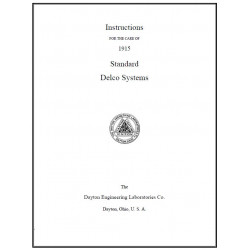 Hudson 1915 Standard Delco Systems Instructions