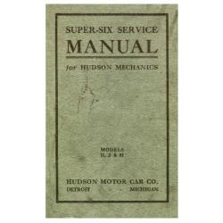 Hudson 1916 18 Models H J M Service Manual