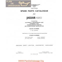 Jaguar 420 Spare Parts Catalogue