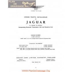 Jaguar 4200 Mark 10 Spare Parts Catalogue