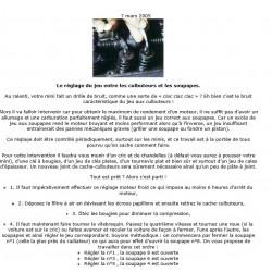 Austin Healey Rover Mini Le Reglage Du Jeu Aux Culbuteurs