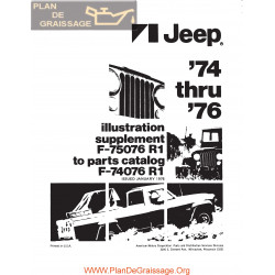 Jeep 1974 1976 Parts Supplement