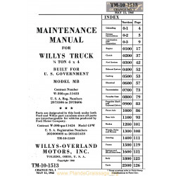 Jeep Willys Manuel Maintenance Anglais