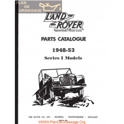 Land Rover Series I 1948 1953 Parts Catalogue