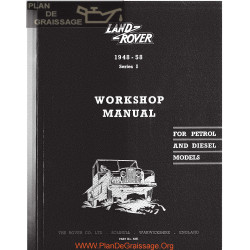 Land Rover Series I 1948 1958 Workshop Manual Rover