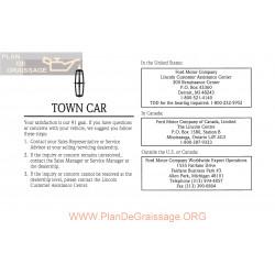 Lincoln 1997 Towncar User Manual