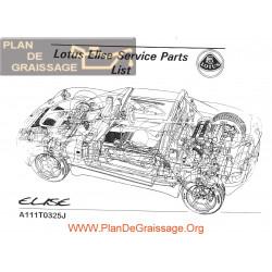 Lotus Elise A111t0325j Parts List