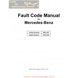 Mercedes Benz Fault Code Manual 1988 2000