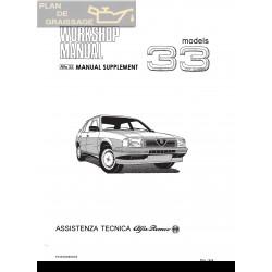 Alfa Romeo 33 Workshop Manual Supplement 1988