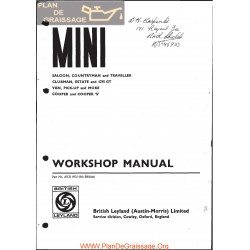 Mini Cooper Moke S 1275gt 1971 Workshop Manual