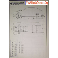 Mitsubishi Colt Lancer 1974 80
