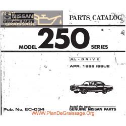 Nissan 250 1986 034 Parts Catalog
