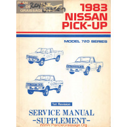 Nissan 720 Pick Up 1983 Service Manual Supplement