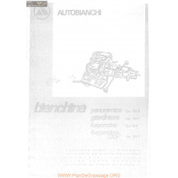 Autobianchi 120 B F E 264 Catalogue Pieces