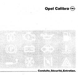 Opel Calibra Conduite Securite Entretien