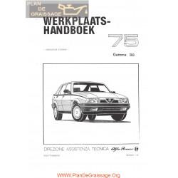 Alfa Romeo 75 Turbo 1988 Workshop Manual