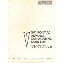 Pontiac Advance Ordering Ventura Ii 1971