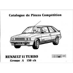 Renault 11 Turbo 150ch Catalogue De Pieces Competition