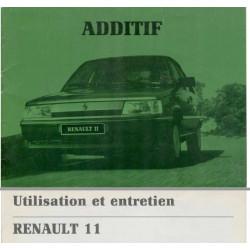 Renault 11 Utilisation Entretien