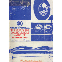 Skoda 105s 105l 120l 120le 120ls 120lse 1980 Workshop Manual