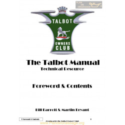 Talbot G1 Forward Contents