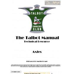 Talbot G11 Axles